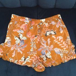 Forever 21 Ruffle Shorts
